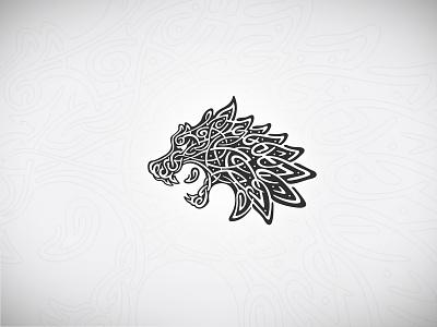 Viking Wolf tattoo tribal alpha illustration occult rune nordic celtic buy sell wolf logo wolf viking