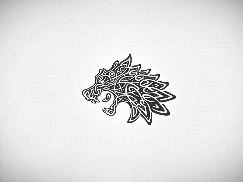 Viking Wolf tattoo tribal alpha illustration occult rune nordic celtic buy sell wolf logo wolf viking