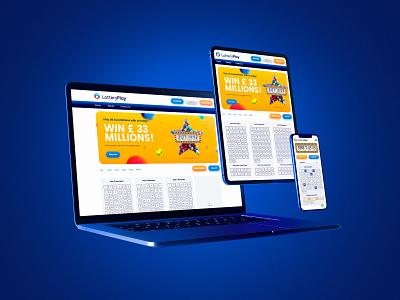 Lottery Play UX/UI ipad tablet desktop laptop responsive mobile phone draw play gaming lottery ticket app website ui uxui ux
