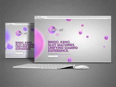 UNIPLAY Under Construction Landing Page www casino gaming slot machines keno bingo branding web design uniplay