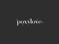 PoxyLove logo design