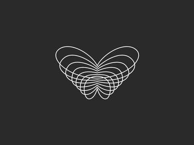 From ARCHIVE : Butterfly symbol - waves minimal ep music label lines festival party underground electronic music techno music resonance waves draw design graphic symbol logo butterfly