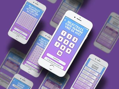 UNIPLAY APP MOBILE GUI DESIGN - BUY KENO TICKETS casino win jackpot sphere ball slots keno bingo romania uniplay