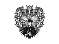 ОТЕЦ ПАВЕЛ - Priest Pavel - Wine Label Design - Crest WIP
