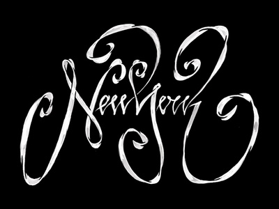 New York Typography Sketch - WIP
