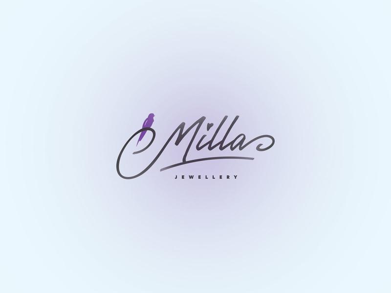 Milla Jewellery - Logo Design WIP swallow bird bracelets earings handmade milena jewellery milla