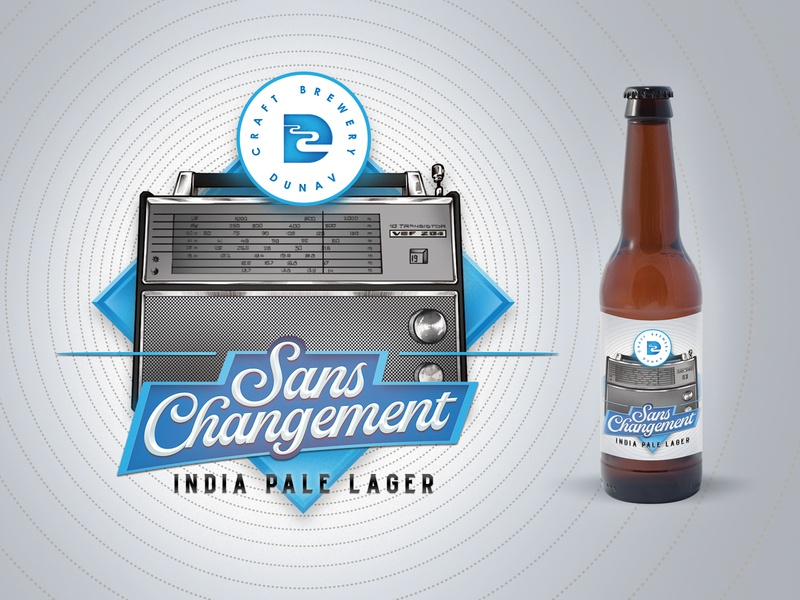 Sans Changement - INDIA PALE LAGER - LABEL DESIGN danube ruse bulgaria river ipl pale india lager brewery brew bottle craft beer label beer label package