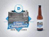 Sans Changement - INDIA PALE LAGER - LABEL DESIGN