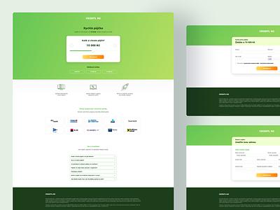 Creditline landing page website web ux ui design