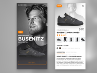 Adidas Busenitz Pro Shoes - UI/UX Product Card Concept