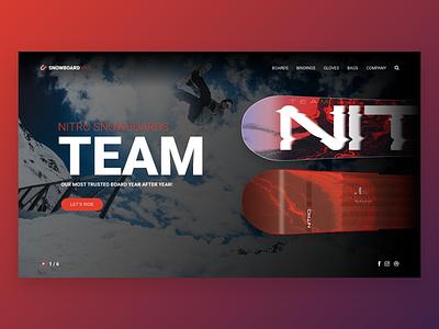 Design landing page🖥✍🏻 inspiration snowboarding html graphic webdesign website web design landing page