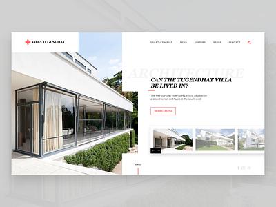 New design concept of famous building in Czech republic✍🏻 landing page web webdesign html building architecture design graphic ux ui