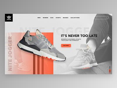 Design landing page✍🏻🖥 shoes concept webdesigner website web designer design ui ux landing page html