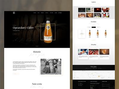 A. K. Cider - website ui webdesigner html webdesign website landing page ux web