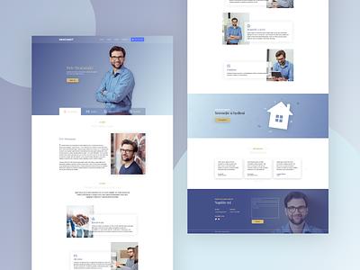 Microsite design for a financial advisor website graphic design webdesigner graphic webdesign landing page ux ui design web