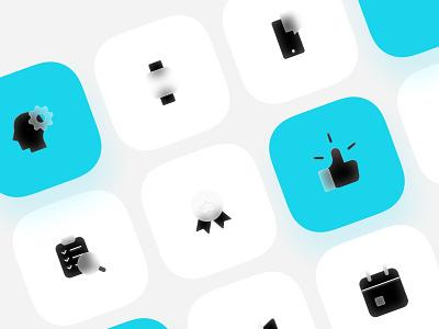 Pexels icons website mark ios icon iconography style glass web illustration vector flat icons design