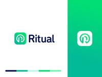 ritual identity typography mobile app tech mark branding logo