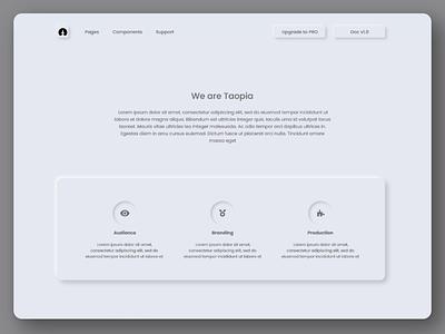 Neumorphic website neumorphic design neumorphism neumorphic web ux ui digital design dailyui