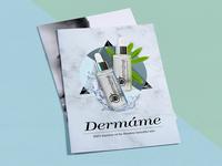 Dermame Brochure Designing