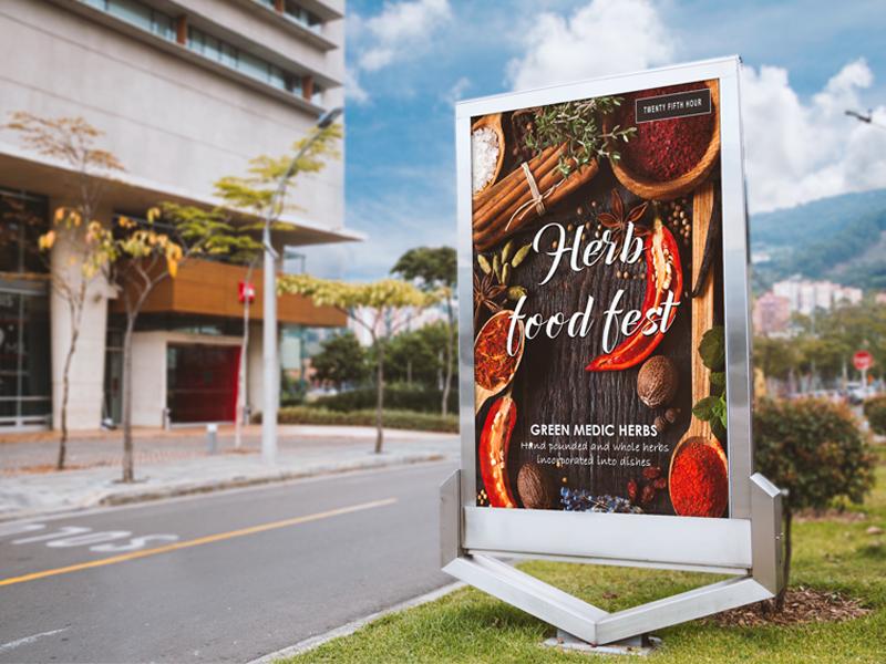 Outdoor Banner Design outdoor banner food poster graphic design