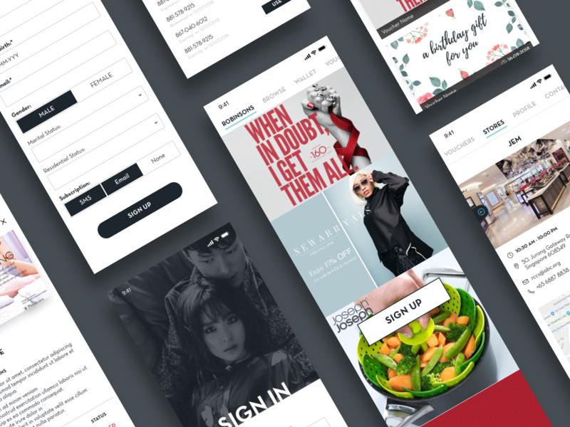 Simple IOS App Design e-commerce app loyalty custom ios app design ui  ux