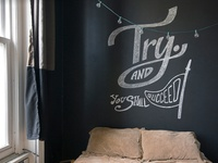 Try. Chalk Mural