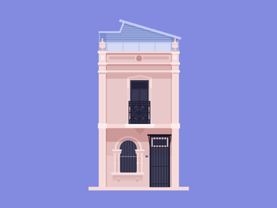 14 George St, Redfern illustration cute terrace australia sydney architecture home building house