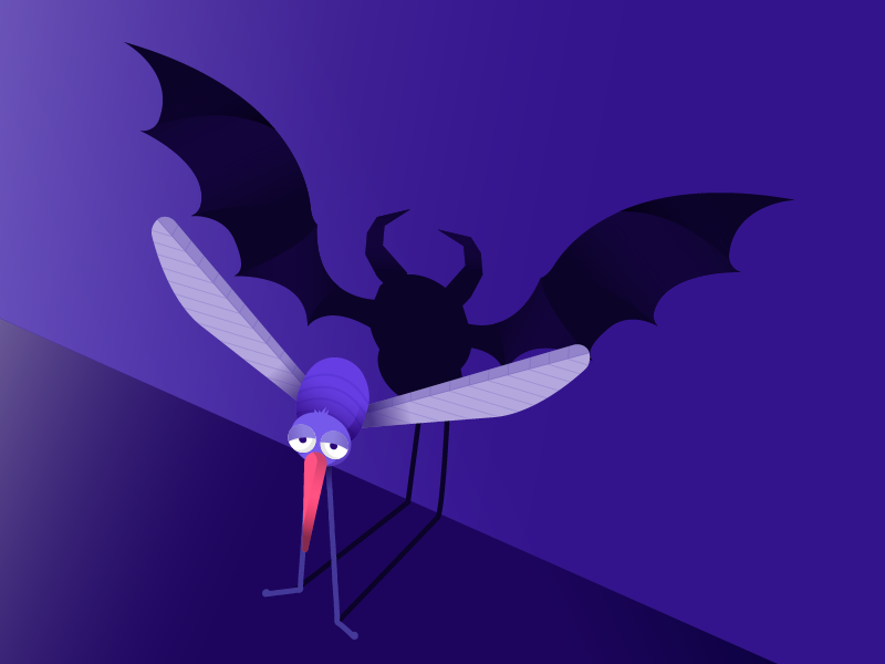 My enemy: the mosquito wings shadow bug evil illustration mosquito