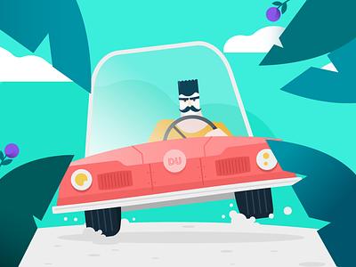 Vroommmm driving speeding runaway getaway car