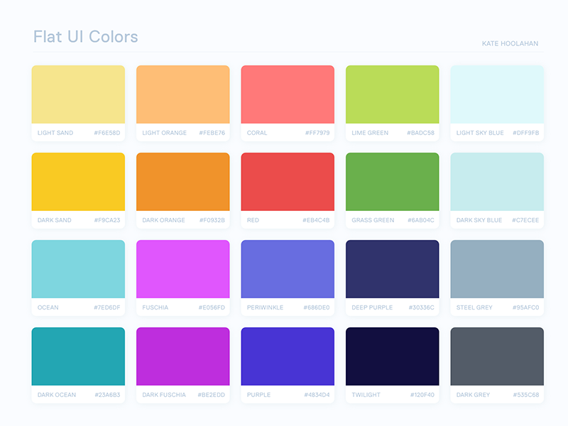 Flat UI Colors 2: Australia swatches bright australia flat ui colors color palette
