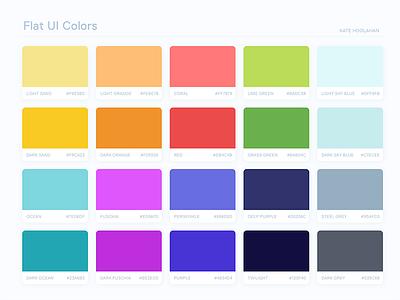 Flat UI Colors 2: Australia swatches bright australia flat ui colors color palette