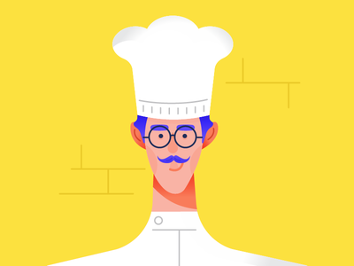Oui, Chef. person yellow chef character illustration