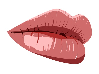 Vector close lips in graphic style erotic attractive hot colorful illustration vector icon logo pomade fashion beauty pink red glance female facial face mouth lip lips
