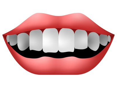 Vector smile in graphic style art clean clear white pink red dentist realistic realism vector gradient logo tooth teeth facial face throat mouth lip lips