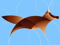 Vector illustration. Dog in cartoon style. Animal logo