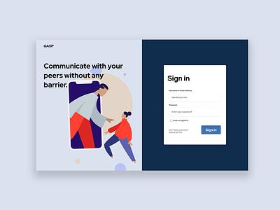 Week #01 - Gasp Messaging Client design web ui illustration