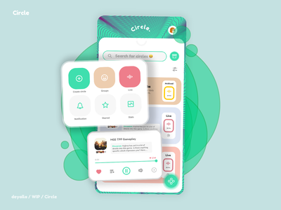 Circle - Live dicussion livestream discord music archive vector social podcast minimal logo icon typography branding android design ux ui app discussion live circle