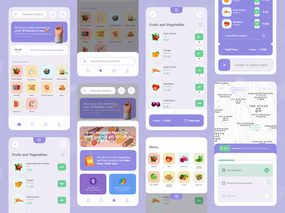 Keko - Grocery delivery #1 swipe google phonepe hyperlocal instacart swiggy illustraion food delivery grocery maps booking branding icon minimal design app android ux ui