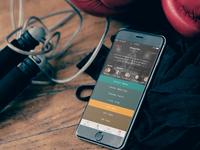 Crossfit app design