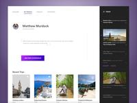 Profile Page - Wanderlust