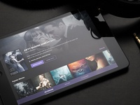 Streaming app concept - iPad