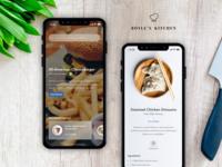 Boyle's Kitchen - Recipe App knife ui ios roshan thomas ingredients burger iphonex food kitchen app recipe