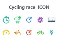 Cycling race icon