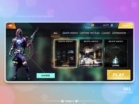 UI/UX Futuristic mobile game