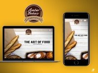 Amber Bakery - Web Redesign 2018