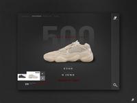 YEEZY BOOST 500 - Website Redesign 2018