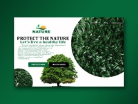 Protect The Nature Website Concept - 2018