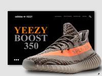 YEEZY 350 WEBSITE INTERFACE CONCEPT - 2018