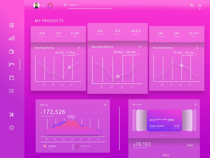 PRODUCT PAGE GRAPH DESIGN - 2018 flat design webdesign typography ux ui art graphic arts website concept website banner simple web website illustration minimal earnings products page products graph modern