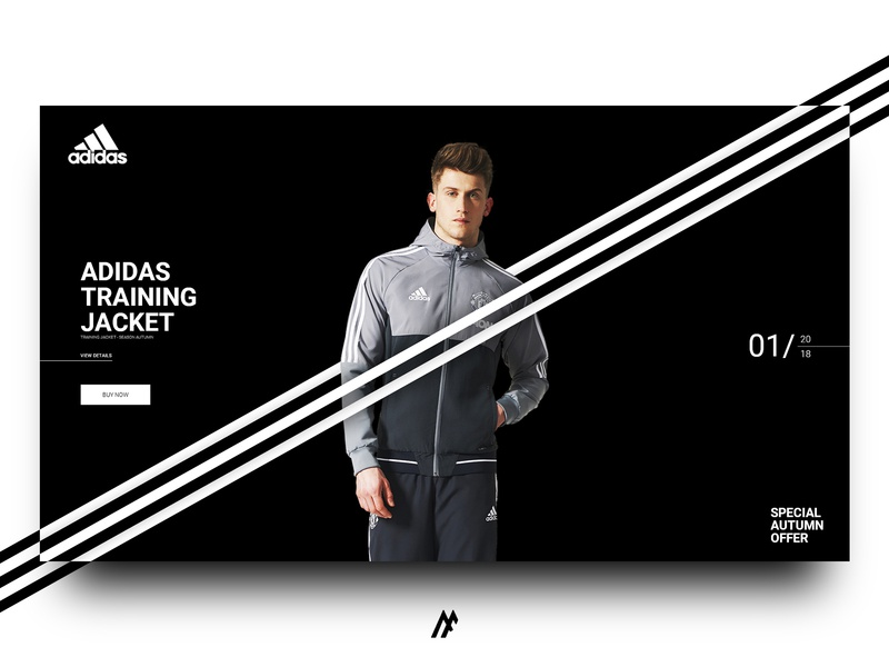 ADIDAS INTERFACE DESIGN - 2018 simple art typography adidas originals adidas website creator branding ui ux webdesign illustration website banner website concept website web flat logo minimal design modern